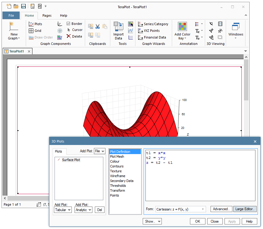 how to create a triangle in graphing software